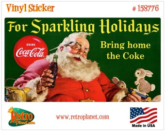 Coca-Cola Santa Sparkling Holidays Vinyl Sticker - 158776