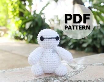 PATTERN: Baymax Stand ver.1 Crochet Amigurumi Doll PDF Crochet Pattern - Instant Download