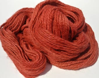 Handspun hand dyed alpaca yarn, 2 ply worsted weight
