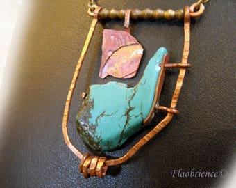 woman necklace, turquoise by flaobrience jeweler montpellier