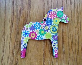 Scandinavian Swedish Dala Horse Ornament
