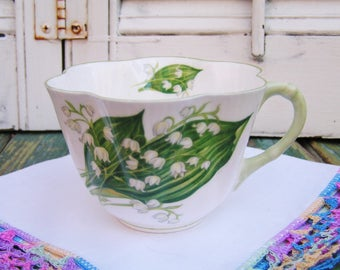 Vintage Shelley Lily of the Valley Dainty Cup Made in England English Bone China Tea Party Cup