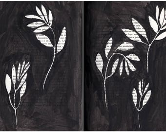 Leaves F05 & F06 . original drawing by Ana Frois