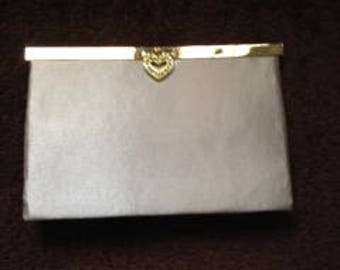 Beige satin purse