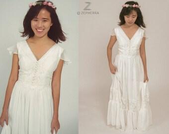 Boho Wedding Dress/ Lace Wedding Dress/ Bohemian wedding/ Vintage Wedding/ Custom made dress