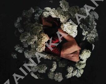 Pool In Flowers - Fine Art Photography Surreal Self Portrait
