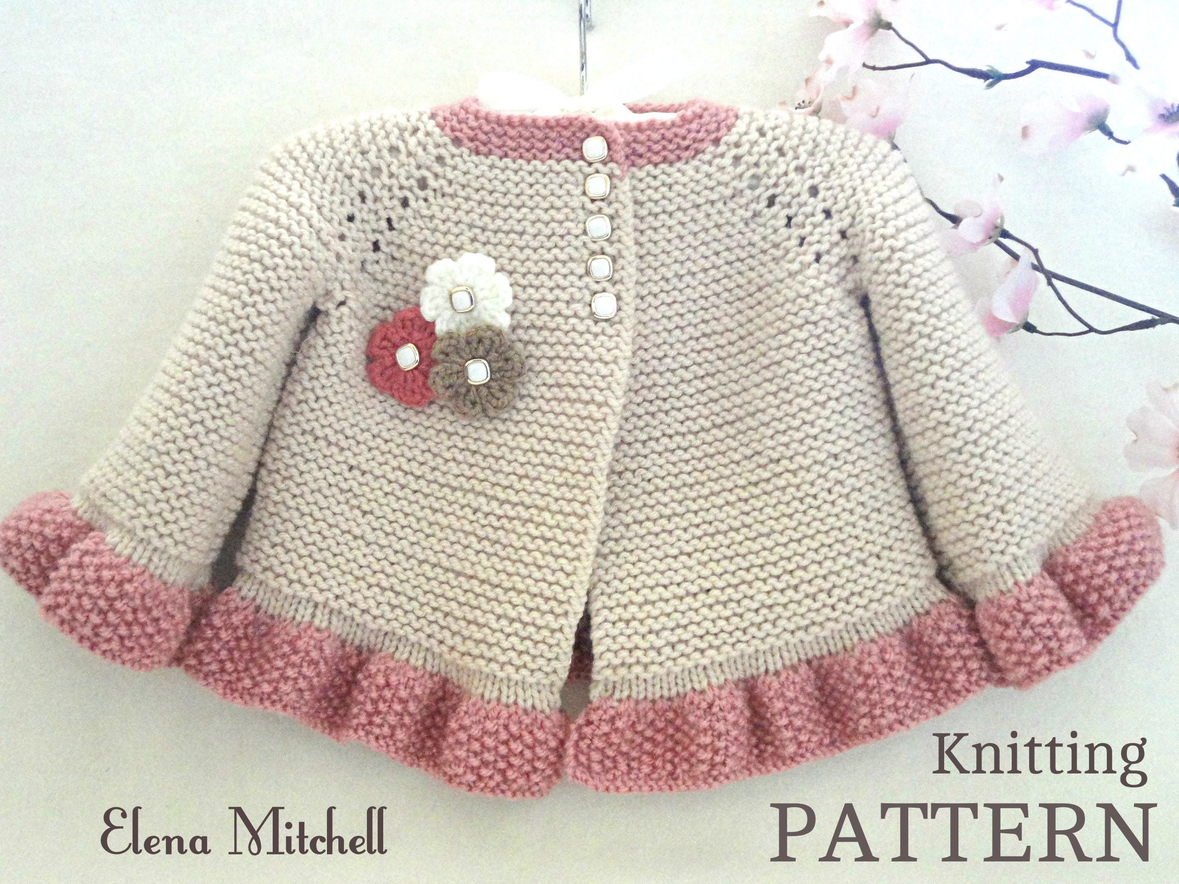 Knitting pattern baby jacket baby cardigan garter stitch knit zoom bankloansurffo Gallery