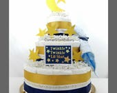 I Love You to the Moon and Back Diaper Cake| Twinkle Twinkle Little Star| Baby Shower Cakes| Baby Shower Gifts| Baby Shower Centerpieces