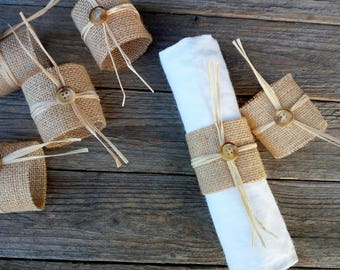 Bridal spider cloth towel rings, rustic wedding decor, napkin ring cloth, rustic, bride, wedding table decoration