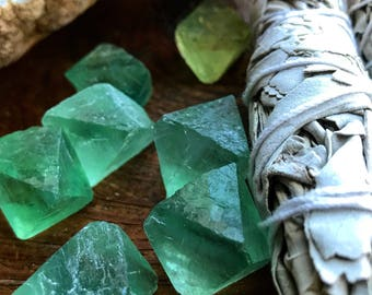 Green Fluorite Specimens: Set of 4