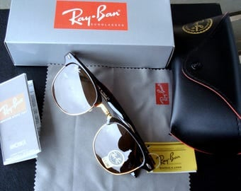 Sunglasses Ray-Ban UV 400/Plastic Frames Dark Brown G-15 Lenses / Master Sunglasses  with Black Case/Sunglasses with Tags/Unused