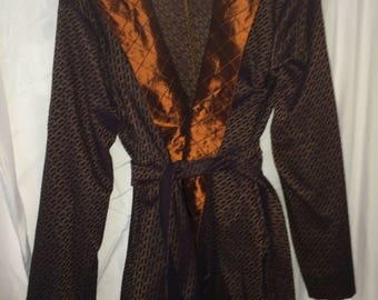 Blue and Brown Edwardian in Smoking Jacket Theatrical Costume