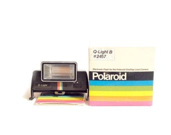 NEW Polaroid Flash Q-Light #2457 B with original box [for non foldable Polaroid type One Step - Pronto - 1000 - 2000- 3000]