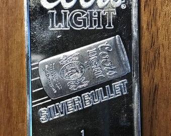 Coors Light Silver Bullet