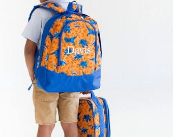 Preschool Backpack, Monogram Bacpack, Boys Backpack, Dyno Mite Backpack, Dinosaur backpack, Embroidered Backpack, Personalized Backpack
