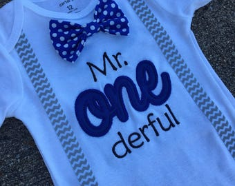 Mr ONEderful Boys Birthday, Mr. onederful birthday, Boys First Birthday Bowtie Shirt,-BOYS 1st BIRTHDAY OUTFIT,Cake Smash,