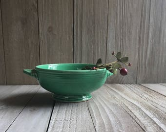Vintage Fiesta - Cream Soup Bowl - Green / Light Green