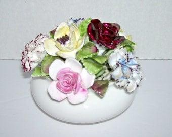 Royal Doulton Bone China Flowers in Pot Arrangement