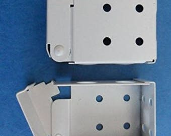 Installation Brackets For  Faux And Wood Horizontal Blinds Low Profile - One Pair, White