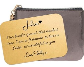 Personalised Sister Wallet Insert Card