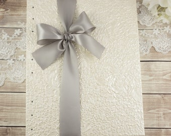 Ivory Guest Book, Photo Guest Book, Wedding Photo Book, Large Guest Book, Custom Guest Book, Card Stock Pages, Blank Pages, Made to Order