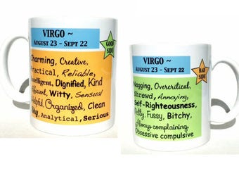 Virgo mug, virgo gifts, birthday gift, birthday mug, cute mugs, astrology mug, astrology gifts, zodiac gifts, mugs with sayings