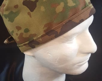 US Army Camo Tie Back Surgical Scrub Hat
