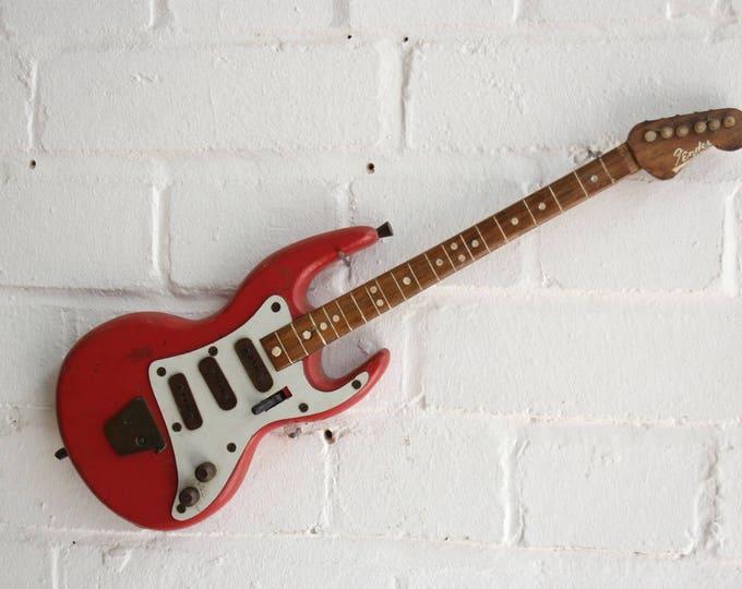 Handmade Wooden Fender Model Circa 1960's