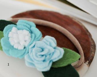 Baby girl felt flower headband/ hair clip/ hair pin/ hair tie
