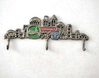 Wall key holder,1960's Holyland,jerusalem,signed TAMAR,rare authentic