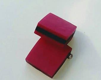 1 X candy English fuchsia/black 18mm