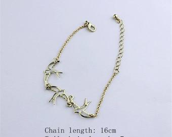 Trio of golden bird bracelet
