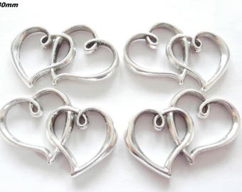 X 1 heart connector double 30mm
