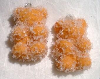 X 1 bear orange polymer clay