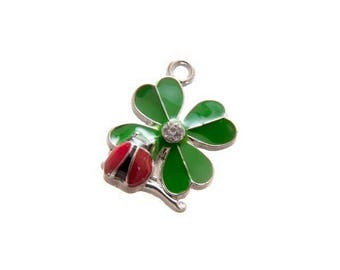 X 1 to her Ladybug 20mm and 4 leaf clover