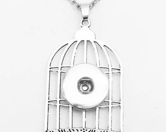 Snap Bird Cage necklace