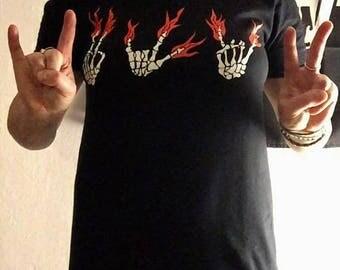 Peace Love Rock T-shirt XL