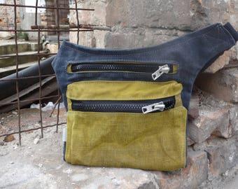 Waxed Canvas Hip Bag, Babywearing Bag Canvas Belt Bag, Fanny Pack  Festival Bag Travel Pouch Waist Bag