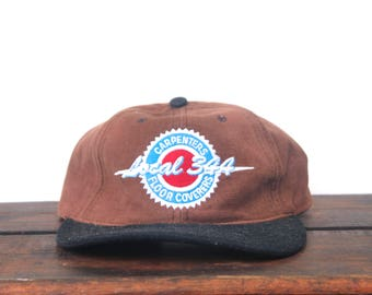 Vintage 90's Carpenters & Floor Coverers Union Local 344 Strapback Hat Baseball Cap