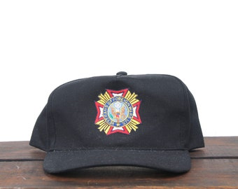 Vintage VFW Veterans Of Foreign Wars Navy Army Air Force Marines Trucker Hat Snapback Baseball Cap