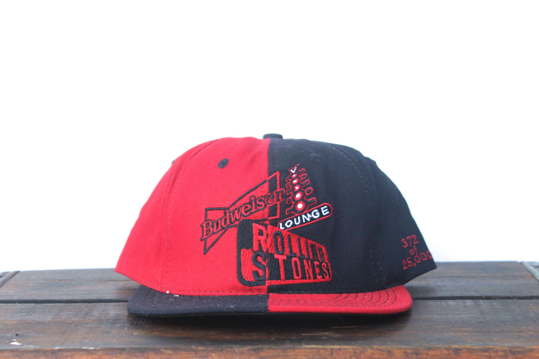 Vintage 90 s Rolling Stones Voodoo Lounge Tour Budweiser Beer Strapback Hat  Baseball Cap 79900b2379d2