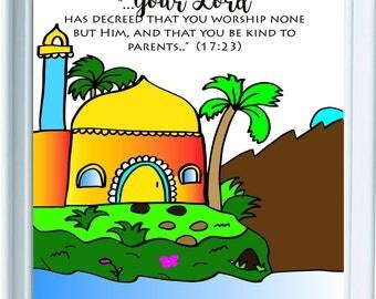 Islamic Wall Art, Islamic Art, Islamic Wall Art for kids, Muslim kids