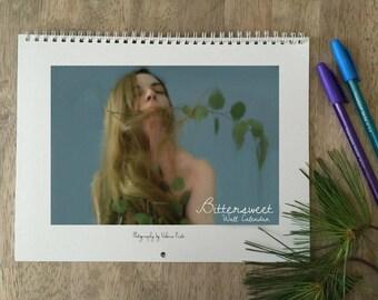 Bittersweet Wall Calendar 2018, Portraits Calendar, Surreal Wall Calendar, Fine Art Wall Calenda, Wall calendar 2018, Planner 2018, Calendar