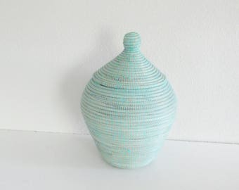 Vase Shaped Baskets, Pastell Tones, Cottage chic wool chests,