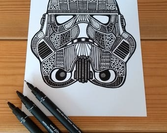 Stormtrooper print (A5)