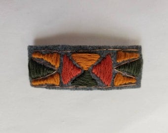 Hand Embroidered Barrette