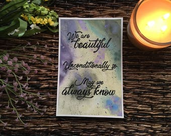 Beauty - Watercolor Painting and Poem