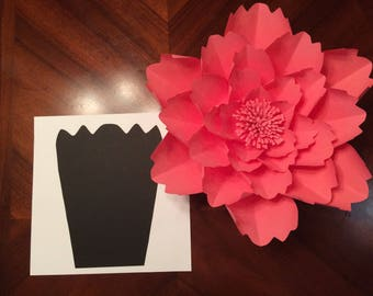 Large Flower template # 1 - Template has 9 different size petals
