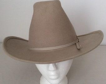 Laredo Hats Vintage Gray Wool Felt Western Cowboy Hat Size 7 1/8