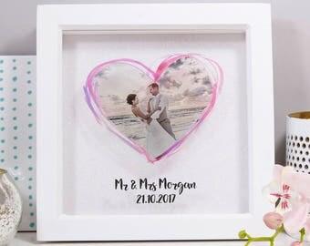 Wedding Anniversary Print - Paper Wedding Anniversary - Wedding Anniversary Gift - Wedding Anniversary Print - Wedding Photo Glitter Print